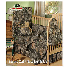 MOSSY OAK CAMO CAMOUFLAGE INFANT BABY CRIB BEDDING SET  5 PCS!! - NEW