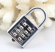 4 Digit Push Button Combination Padlock  Luggage Travel Code Lock TB CA ET