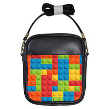 Hot New bricks pattern for Girls Sling Bag Free Shipping