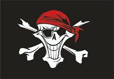 PIRATE FLAG BANDANA EYE PATCH JOLLY ROGER SKULL AND CROSSBONES 3'x5' feet
