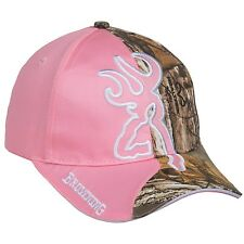 Browning Big Buckmark Pink Realtree Xtra Camo Women Hunting Hat  Baseball Cap
