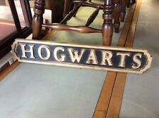 Vintage Style HOGWARTS Wooden Street Sign. Harry Potter inspired Ti2728