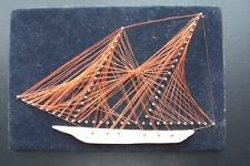Vintage Copper Wire Art Sail Boat Ship Picture Wall Hanging Nautical  wall decor