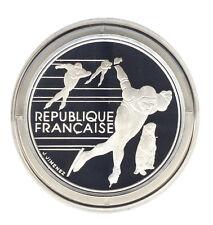 FRANKREICH - 100 Francs 1990 - OLYMPIA Albertville - Eisschnelllauf - SILBER