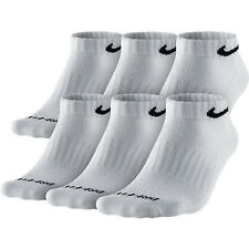 Nike Dri Fit Cushion White Low Cut Socks 6 Pair SX4448-101 Sz M 6-8
