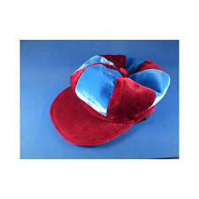 Claret & Sky Blue Flat Cap Novelty Jockey Fancy Dress Hat Horse Racing