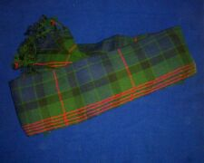 Scottish | Gunn Tartan pleated Piper's Long Plaid | 3 1/2 y | Geoffrey