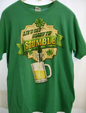 Let's Get Ready To Stumble Funny Beer St. Patty's Day Themed Green T-ShIrt