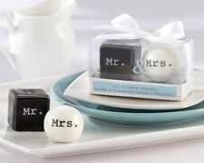 Mr. and Mrs. Salt Pepper Shakers Wedding Favor Reception Party Gift Cute Unique