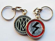 MARILYN MANSON Alternative Metal Band Quality Chrome Keyring Picture Both Sides!