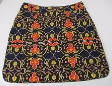 EP Pro sz M/L 8/9 Orange Yellow Black Golf Skort Shorts Skirt French Scroll
