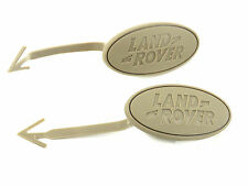 2x Genuine New LAND ROVER FRONT DOOR CARD BADGE Almond Emblem Discovery 3 LR3