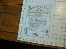 1878 Memento & Map of the First VALLEY FORGE CENTENARY origianal songs on back