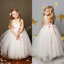 Flower Girl Kid Princess Tutu Party Pageant Wedding Bridesmaid Ball Gown Dress 6
