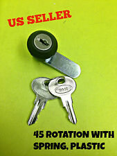 45° Cam Lock With Spring File Cabinet Mailbox Desk Drawer Cupboard Locker 2 Keys