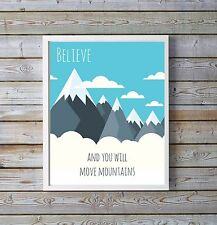 Boys Room Wall Art Bedroom Pictures Mountain Poster Picture Print Prints Posters