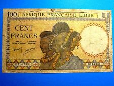 French West Africa 100 Franc Banknote. 1936-1942