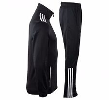 New Adidas MENS Gym TS Entry Tracksuit Track Suit Jacket Pants Black White XL