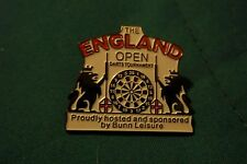 NEW darts pin for the ENGLAND OPEN the offical pin badge