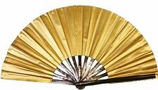 Ten (10) Gold Tai Chi Fan, Tessen, Wushu performance fan