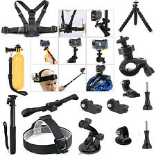 Accessories Bundle Kit for Sony HDR-AS15/AZ1 AS20 AS30V AS100V AS200V Xiaomi Yi