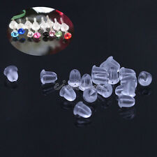 Lots 500Pc Utility Plastic Earring Back Earnuts / Stoppers For Cell Phone 5mm