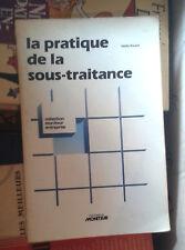 ROULET Valdo. La pratique de la sous-traitance. Moniteur. 1981.