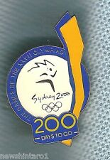 #P35.  SYDNEY 2000 OLYMPIC COUNTDOWN PIN - 200  DAYS TO GO, COLOURED