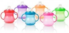 Nuby Two Handle Polypropylene No-Spill Non-leak Cup Assorted Colours, 295 ml
