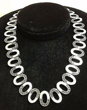 New Sterling .925 Silver Necklace w/ Mother of Pearl & Marcasite WHOLESALE PRICE