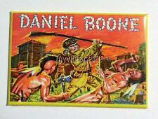"DANIEL BOONE Metal LUNCHBOX   2"" x 3"" Fridge MAGNET ART"