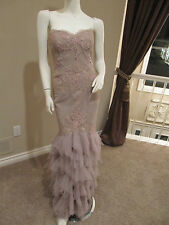 Pronovias Barcelona Mother of the Occassion Formal Gown Sz 10 Taupe, Beige
