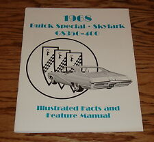 1968 Buick Skylark GS Illustrated Facts Feature Manual Brochure 68