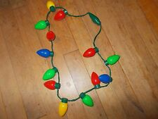 DISNEY PARKS Holiday Light-Up Glow Flashing Bulbs Necklace