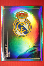PANINI CHAMPIONS LEAGUE 2011/12 N 209 BADGE REAL MADRID WITH BLACK BACK MINT!