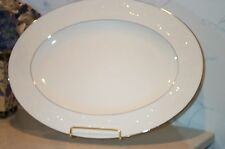 "NEW Noritake HALLS OF IVY PLATINUM 14"" Oval Serving Platter (Medium)  NEW IN BOX"