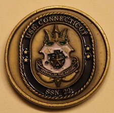 USS Connecticut (SSN-22) Submarine Boat Command Chief Navy Challenge Coin