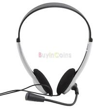 30mm Speaker Stereo Headphone Headset Microphone PC Laptop Computer Equipment