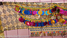 New Egyptian Professional Belly Dance Hip Scarf Bead Coins luxury  ## 40
