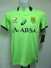 SOUTH AFRICA SPRINGBOKS RUGBY GREEN TRAINING JERSEY BY ASICS ADULTS LARGE