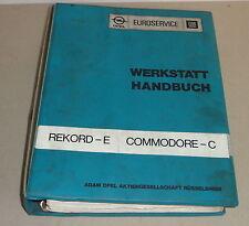 Officina Manuale OPEL REKORD E + Commodore C a partire dal 1977 - 1982
