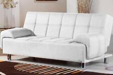 Divano letto 200x99 bianco braccioli regolabili antiribaltamento salotto|gs