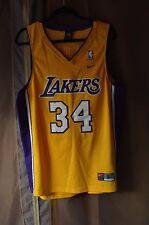 NWOT Nike Los Angeles Lakers Shaquille O'Neal 34 Gold Swingman Jersey Men L Kobe