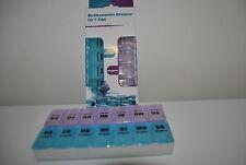 Pillenbox  Pillendose  Tablettenbox  Medikamentendosierer für 7 Tage  Top Neu O