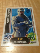 STAR WARS Force Awakens - Force Attax Trading Card #014 Rebel Trooper