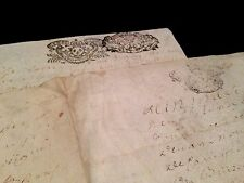 LOT OF TWO PARCHMENTS 1600s