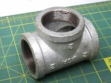 "WARD 2"" TEE PIPE FITTING GALVANIZED IRON STEEL FEMALE TREADED (1) #56287"