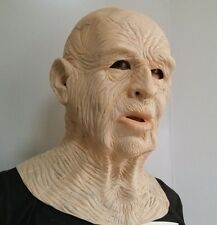 Old man mask #1 Creepy Halloween Costume Theater Prop Novelty Latex Rubber