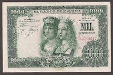 SPAIN Paper Money - Old 1000 Pesetas Note - 1957 - P149 - Nice XF