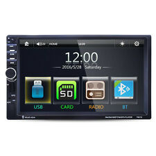 "7"" HD GPS Navigation Double 2Din Car Radio MP5 Player iPod Bluetooth TV Free Map"